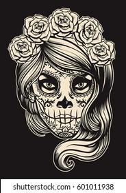 sugar skull girl