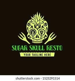 Sugar Skull Resto Logo Template