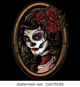 Sugarskull Girl illustration
