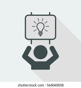 Suggest clever idea - Vector web icon