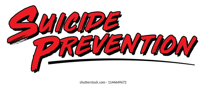 Suicide Prevention Graphic, Text Design for Suicide Awareness Posters, Presentations, Newsletters, Signage and More.