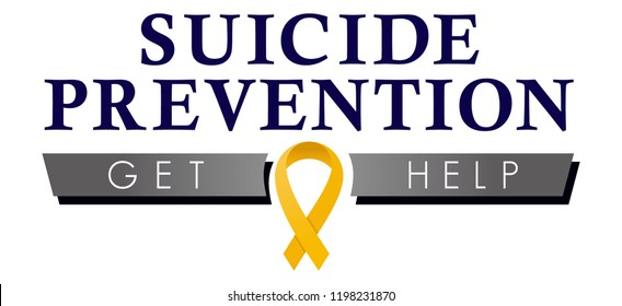 Suicide Prevention Logo, Get Help Graphic for Suicide Awareness and Prevention, Logotype for Mental Health Magazines, Newsletters and General Awareness, Public Health Education, Depression Awareness