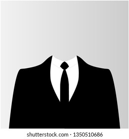 Suit icon isolated on white background. Vector illustration