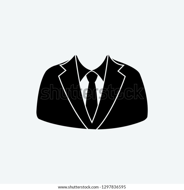 Suit Icon Vector Stock Vector (Royalty Free) 1297836595