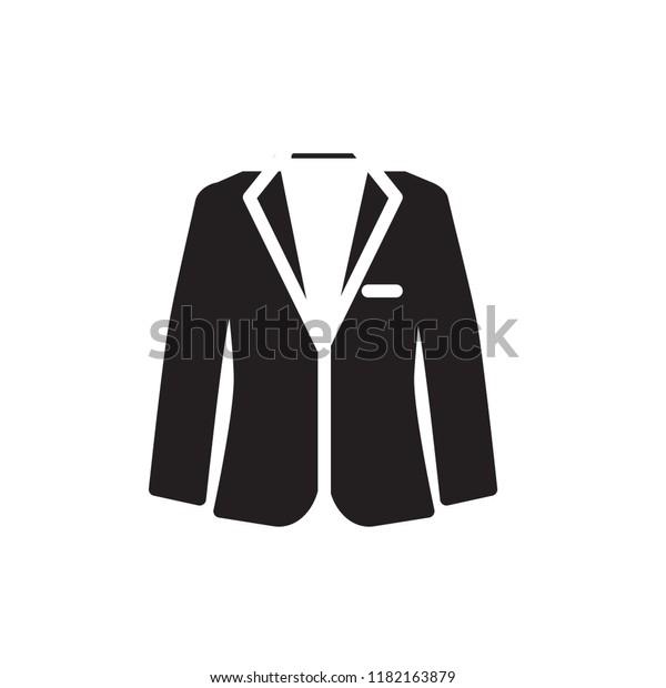 Suit Icon Vector Glyph Style