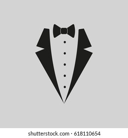 Suit logo. Vector. Isolated.