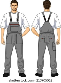 The suit summer for the working man consists of a jacket and overalls
