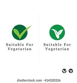 Suitable for Vegetarian Symbol - Vegan Friendly Food Icon