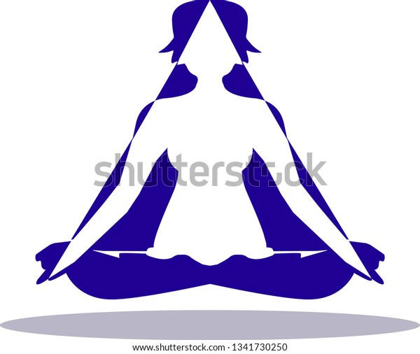 Suitable Yoga Relaxation Logo Stock Vector Royalty Free 1341730250