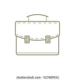 Suitcase. Case. Portfolio. Gold