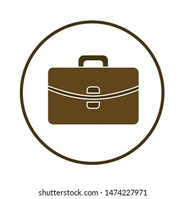 suitcase icon. flat illustration of suitcase vector icon. suitcase sign symbol