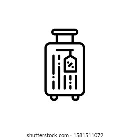 Suitcase Icon Outline Vector. Holiday Sale Icons. Online Shop Ikon.