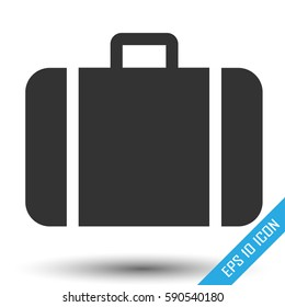 Suitcase icon. travel baggage vector icon. Suitcase flat logo isolated on white background. Vector illustration.