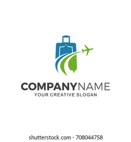Suitcase logo travel. Business  logo illustration
