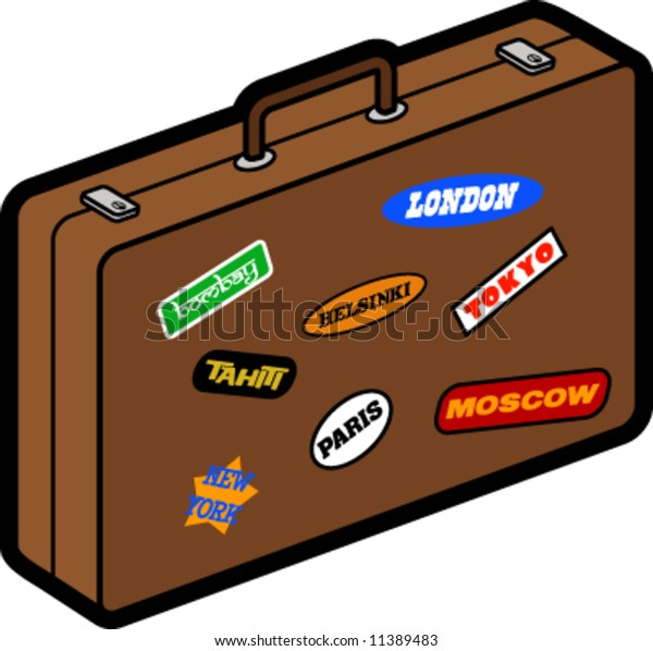 Suitcase With Place Stickers