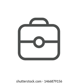Suitcase social media icon isolated on white background. Briefcase symbol modern, simple, vector, icon for website design, mobile app, ui. Vector Illustration
