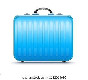Suitcase for travel, icon isolated white background. EPS10.