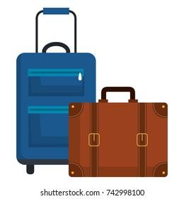 suitcase travel isolated icon