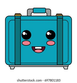 suitcase travel kawaii character