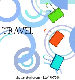 suitcase travel vector background