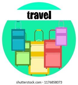 suitcase travel vektor background
