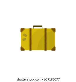 Suitcase vector icon. Color illustration.
