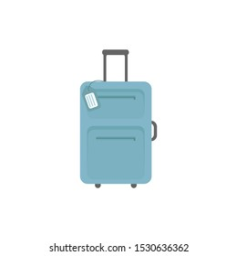 suitcase vector icon isolated on a white background