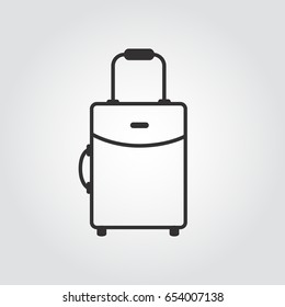 The suitcase vector icon. Luggage symbol