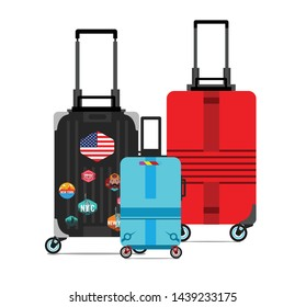 Suitcases and Travel Bag icons