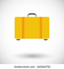 Suitecase. Single flat icon on white background. Vector illustration.