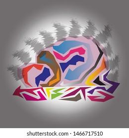 sujud (prostration) illustration vector eps 10