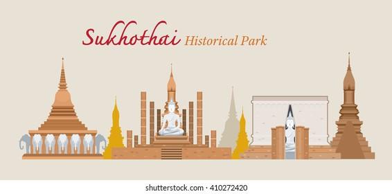 Sukhothai, Historical Park, Thailand, World Heritage, Travel, Tourist Attraction