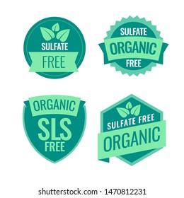 Sulfate Free sign or stamp symbol. Vector illustration