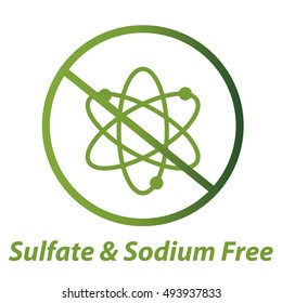 Sulfate and Sodium Free Vector Icon
