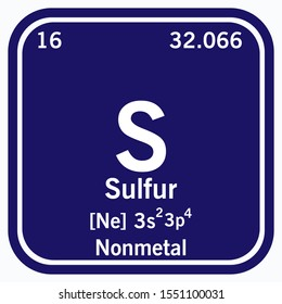 Sulfur Periodic Table of the Elements Vector illustration eps 10