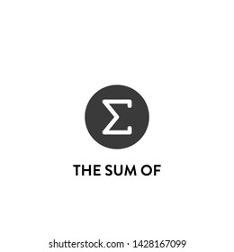 the sum of icon vector. the sum of vector graphic illustration
