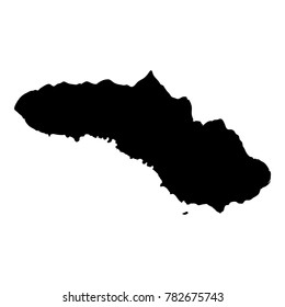 Sumba map. Island silhouette icon. Isolated Sumba black map outline. Vector illustration.