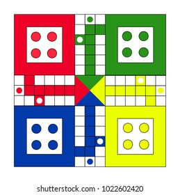 Sumedang City, Indonesia - January, 8th, 2018 : family game board ludo