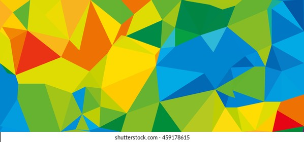 Summer 2016 brazilian Rio colorful background. Summer sport event Rio Polygonal modern background. Athletic color concept