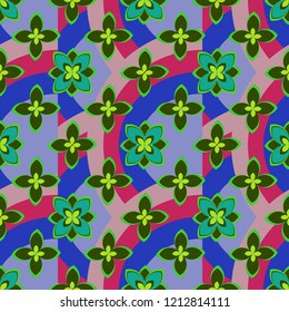Summer abstract background nature flower pattern seamless.