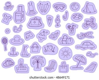 Summer accessories - vector
