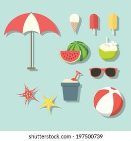 Summer activities elements