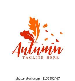 Summer Autumn Logo Template Logo