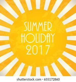 Summer background - 2017, vector illustration, EPS10