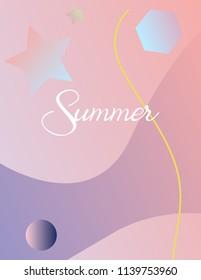 Summer background. Summer abstract. Summer trend. Summer holiday.