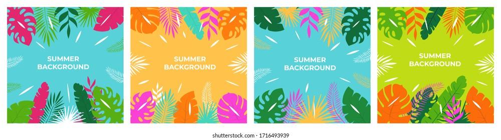Sommerhintergrund. Sommerurlaub für Banner, Plakat und Werbung.