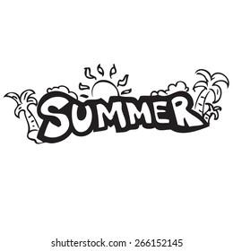 Summer Banner Doodle