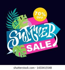 Summer banner - Summer Sale special offer poster
