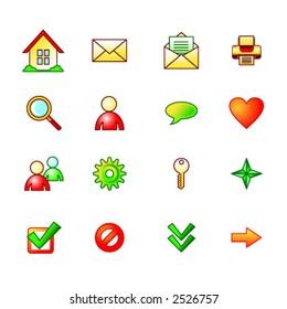 summer basic web icons set