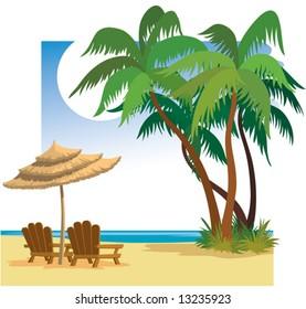 Summer beach.